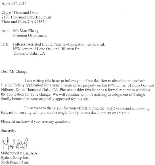Sample Letter To Residents About Upcoming Construction